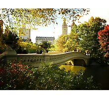 Bow Bridge Central Park in Autumn Photographic Print