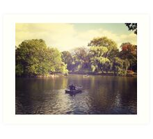 Central Park Row Boats Art Print