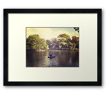 Central Park Row Boats Framed Print
