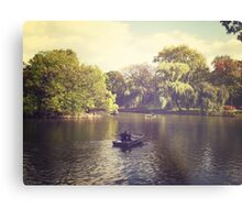 Central Park Row Boats Metal Print