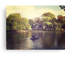 Central Park Row Boats Canvas Print
