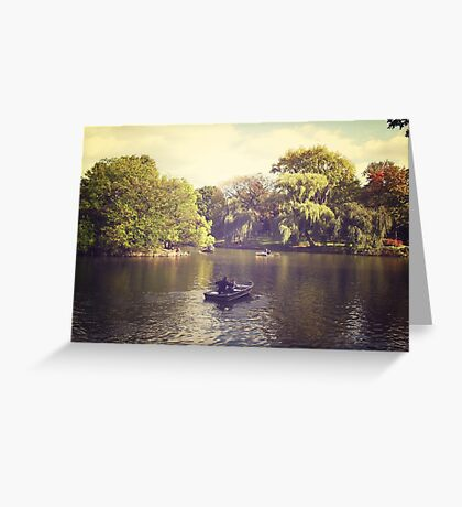 Central Park Row Boats Greeting Card