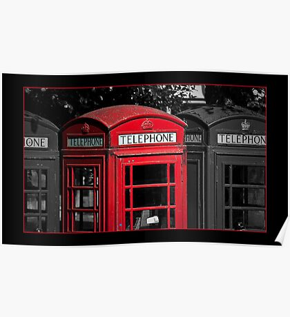 Phone Boxes Poster