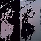 girls with umbrellas by kseniako