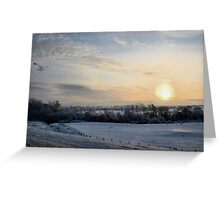 Snowy scene. Greeting Card