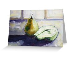 Still Life with Pears Greeting Card