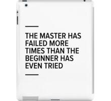 Master vs beginner iPad Case/Skin