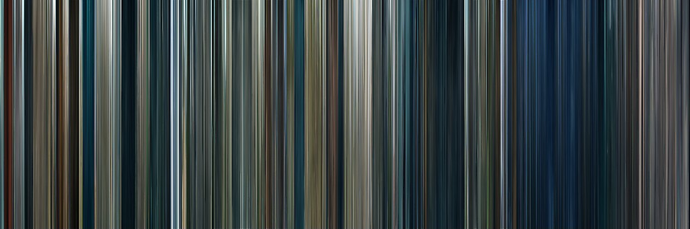 Moviebarcode: The Lord of the Rings: The Two Towers (2002) by moviebarcode