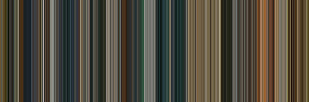 Moviebarcode: The Lord of the Rings: The Return of the King (2003) [Simplified Colors] by moviebarcode