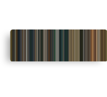 Moviebarcode: The Lord of the Rings: The Return of the King (2003) [Simplified Colors] Canvas Print