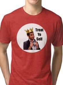 Treat Yo Self- Parks and Rec Tri-blend T-Shirt