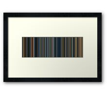 Moviebarcode: The Lord of the Rings Trilogy (2001-2003) [Simplified Colors] Framed Print