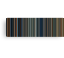 Moviebarcode: The Lord of the Rings Trilogy (2001-2003) [Simplified Colors] Canvas Print