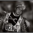 Portrait of a Proud Young Dancer, Schemetzun Pow Wow by Wayne King