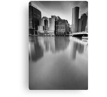 Boston Skyline BW Canvas Print