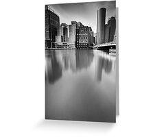 Boston Skyline BW Greeting Card