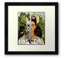 Frida Kahlo - Self Portrait (1940) Skeleton Version Framed Print