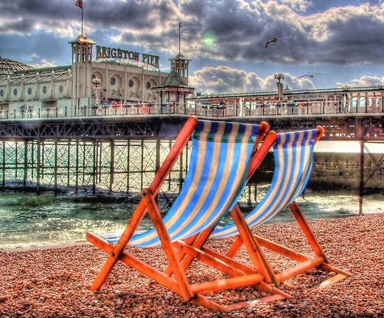 Deckchairs - Brighton - HDR by Colin J Williams Photography