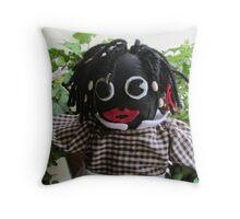 Golliwog Golly Girl Throw Pillow