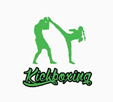 Kickboxing Female Spinning Back Kick Green  Unisex T-Shirt