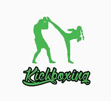 Kickboxing Female Spinning Back Kick Green  T-Shirt