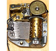 Music Box Mechanism Photographic Print