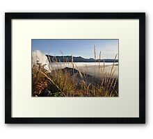 Foggy Gunung Bromo valley Framed Print