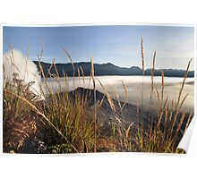 Foggy Gunung Bromo valley Poster