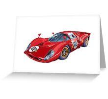 Ferrari 412P 330 P4 1967 Le Mans Greeting Card