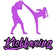 Kickboxing Female Spinning Back Kick Purple  by yin888