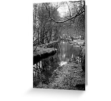 River Pathway Greeting Card