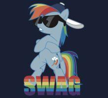 Rainbow Dash has ALL the SWAG One Piece - Short Sleeve