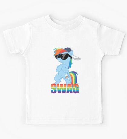 Rainbow Dash has ALL the SWAG Kids Tee