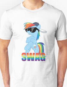 Rainbow Dash has ALL the SWAG Unisex T-Shirt