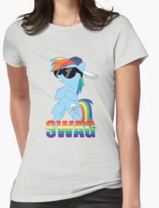 Rainbow Dash has ALL the SWAG Womens Fitted T-Shirt