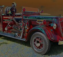 Stylized Old Fired Truck by WolfPause