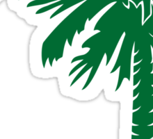 Green Palmetto Moon Sticker