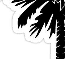 Black Palmetto Moon Sticker