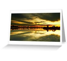 The Burnt Lake - The Lakes Golf Club NSW Greeting Card