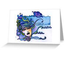 Siren in Blue Greeting Card