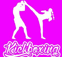 Kickboxing Female Spinning Back Kick White  by yin888
