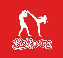 Kickboxing Female Spinning Back Kick White  Unisex T-Shirt