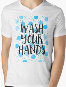 Wash Your Hands Mens V-Neck T-Shirt
