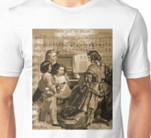 Thou Art So Dear Music - Mom And Children At Piano Unisex T-Shirt