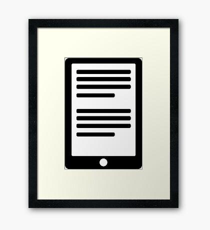 E-Book Reader Framed Print