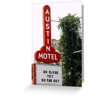 Austin Motel Greeting Card