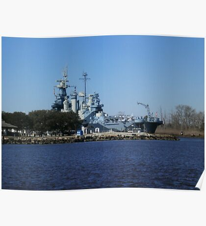 NC Battleship Poster