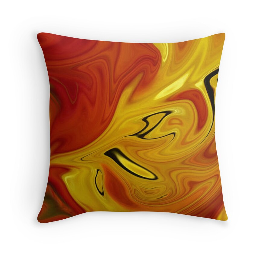 Red And Orange Decorative Pillows :