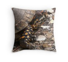 Three-Toed Ornate Box Turtle I Throw Pillow