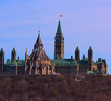 Parliament Hill - Ottawa, Ontario by Josef Pittner